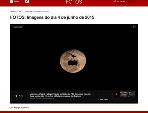 Foto da Lua Cheia com Bondinho na Mídia
