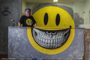Ron English, artista, no Hotel da Loucura (RJ)