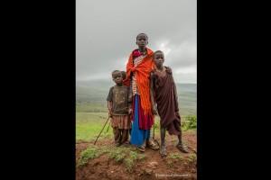 Crianças Maasai, Ngorogoro, Tanzania