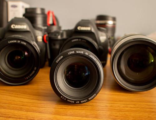 O que eu uso de equipamento fotográfico? Câmeras e lentes